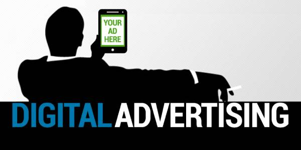 A Silhouette Of Corporate Business Person Sitting Anfd Holding Tablet In His Hand Which Representing Digital Advertisment.