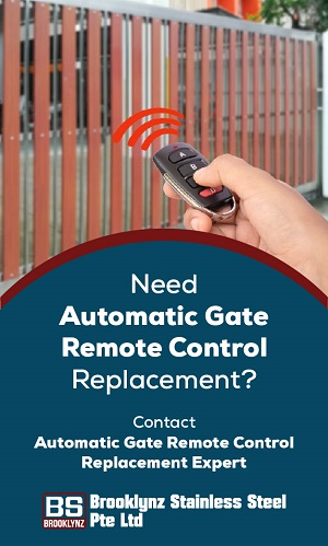 An image representing an automatic metal gate controlled by a remote